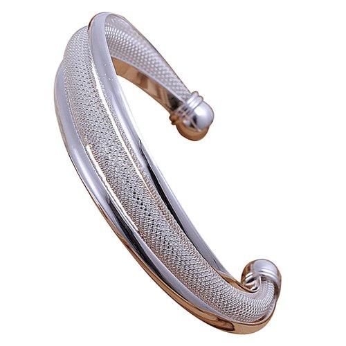 Bracciale da donna placcato argento, gioiello moda