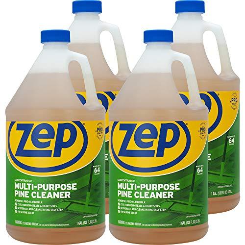 Zep, ZPEZUMPP128CT, Multipurpose Pine Cleaner, 4 / Carton, Brown