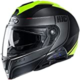 HJC i90 Modular Motorcycle Helmet With Sena 10B Bluetooth Headset Davan MC3HSF Small