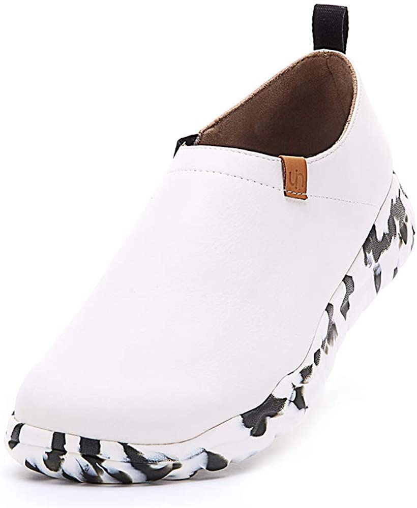 UIN Mens Ottawa Comfort Microfiber Slip-On Shoes Black