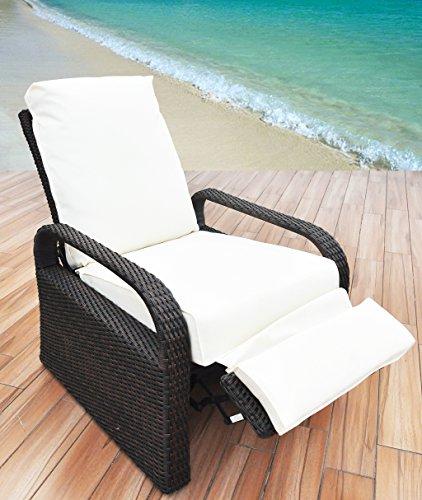 (Babylon Outdoor Recliner Wicker Patio Adjustable Recliner Chair with 5.11