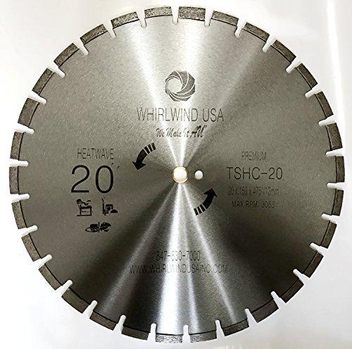 Whirlwind USA 20 inch Heatwave Dry Concrete Cutting Laser Welded Segmented Diamond Saw Blades (20