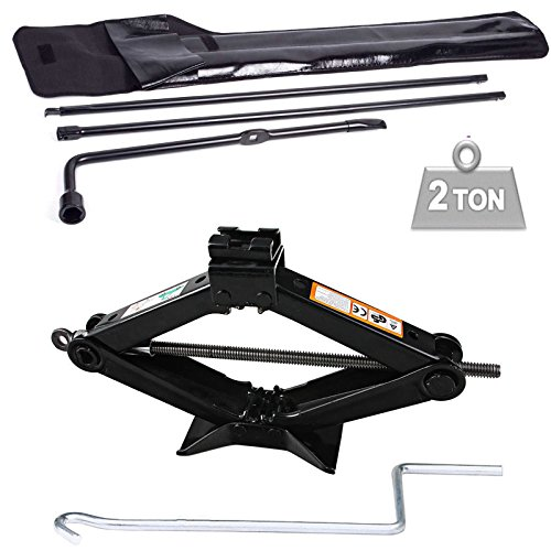 Autofu Spare Tire Tool Scissor Jack 2 Ton Set Fits Ford F250 F350 F450 F550 Super Duty 2003-2007 Pickup Truck Extension Lug Wrench Tools Wheel Replacement Kit
