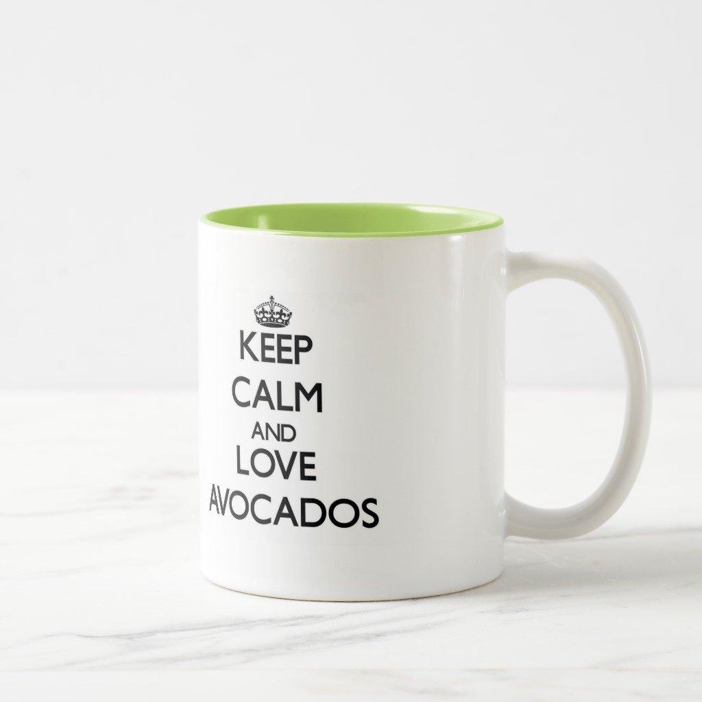 Zazzle Keep Calm and Love Avocadosマグ 11 oz, Two-Tone Mug グリーン 84781936-fb45-98e2-49cb-59d49e740a07 B077NM4GZ6  ライムグリーン 11 oz, Two-Tone Mug