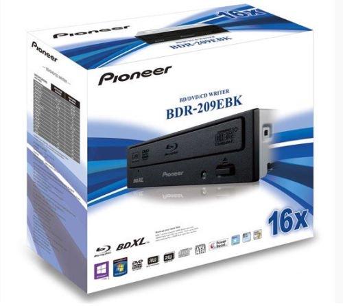 Pioneer BDR-209EBK Blu-ray Writer Quad Layer 16x BD-R, x8 DVD±DL x16 DVD±R by Pioneer