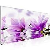 Bilder-Blumen-Magnolia-Wandbild-100-x-40-cm-Vlies-Leinwand-Bild-XXL-Format-Wandbilder-Wohnzimmer-Wohnung-Deko-Kunstdrucke-Violett-1-Teilig-100-MADE-IN-GERMANY-Fertig-zum-Aufhngen-201812a
