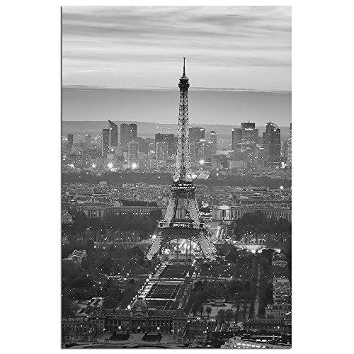 Modern Home Ultra High Resolution Tempered Glass Wall Art - Paris Eiffel Tower (Ultra Modern Glass)
