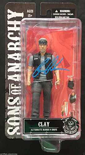 RON PERLMAN SIGNED SONS OF ANARCHY MOTORCYCLE CLUB FIGURE SAMCRO PROOF COA K1 (Sons Of Anarchy Figurines)