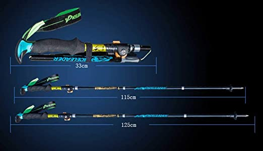 Bastones de Trekking Ultra livianos Agarre de EVA Paquete de ...