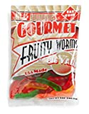 All Gummies Gourmet Fruity Worms, Assorted Colors, 8-Ounce Bag