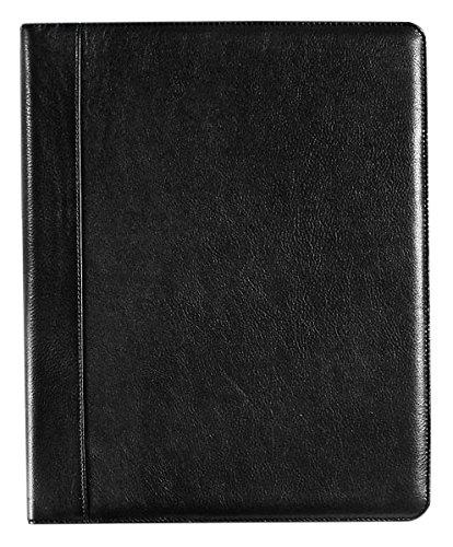 Levenger Sleek Leather Executive Folio, Letter Business Pad Holder, Black (AL14895 BK)