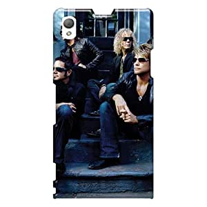Anti-Scratch Cell-phone Hard Covers For Sony Xperia Z1 With Unique Design Attractive Bon Jovi Skin NataliaKrause