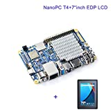 quad core arm ubuntu - FriendlyElec NanoPC-T4 Open Source RK3399 ARM Development Board LPDDR4 RAM 4GB Gbps Ethernet,Support Android and Ubuntu, AI and deep Learning,Ship with 7inch eDP LCD Touch Display