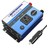 400W Power Inverter DC 12V to AC 110V Car Inverter with 2 USB Charging Ports Car Adapter with AC Outlets & Cigarette Lighter Sockets Automotive Power Converter for Car Battery with Digital Display