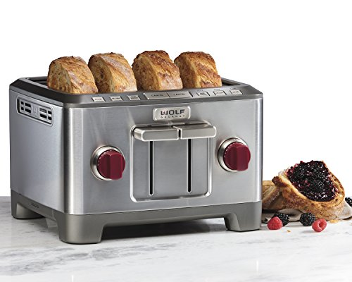 Wolf 4-Slice Toaster, Red Knob WWGTR104S