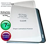 7 Mil Clear Report Binding Covers Plastic Sheets (Pack of 100) 8-3/4 x 11-1/4 with 2 Round Corners