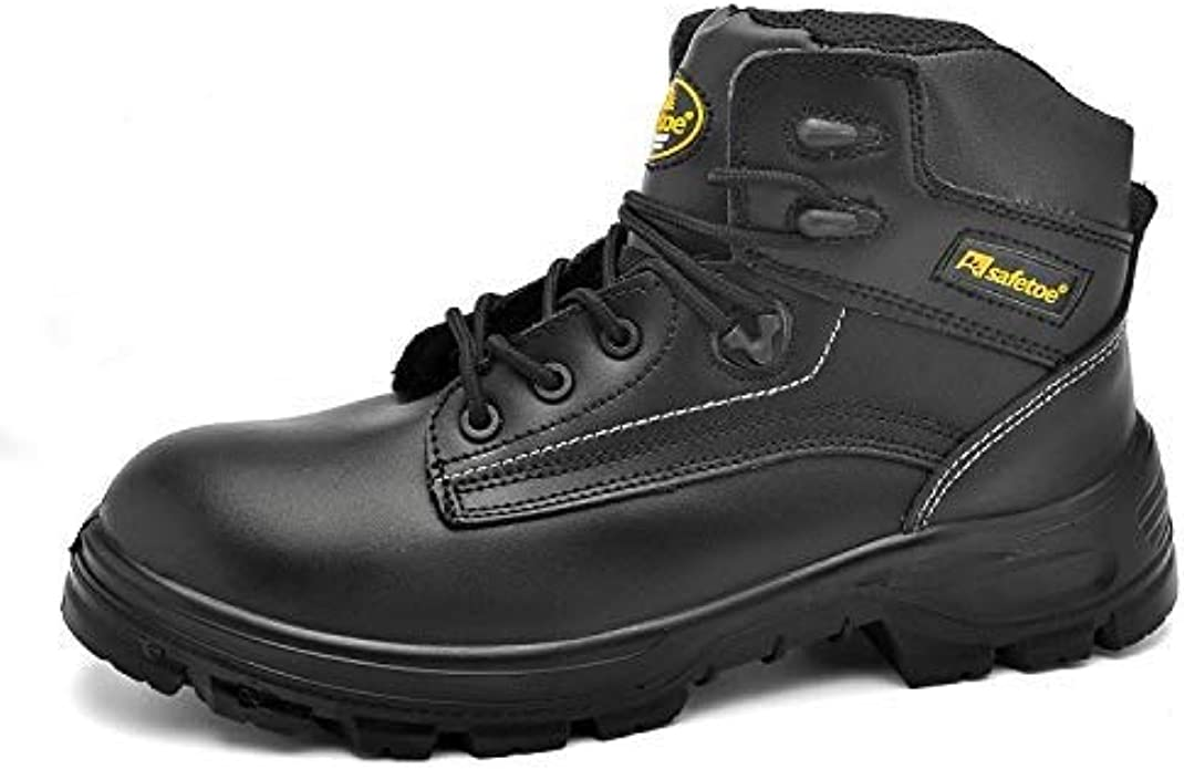 SAFETOE S3 Black Leather Safety Working