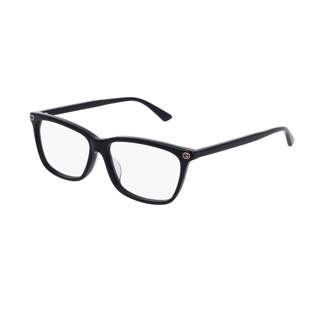 Gucci GG 0042OA 001 Asian Fit Black Plastic Cat-Eye Eyeglasses 55mm