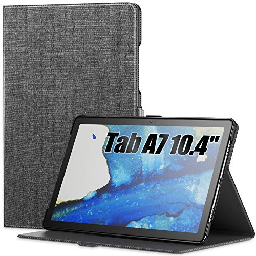 INFILAND Galaxy Tab A7 10.4 2020 Case, Multiple Angle Stand Case with Auto Wake/Sleep Fit Samsung Galaxy Tab A7 10.4-inch Model SM-T500/T505/T507 2020 Tablet, Gray
