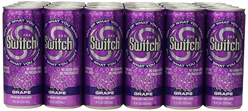 The Switch Sparkling Juice, Grape, 8- Fl. Oz Cans (Pack of 24)