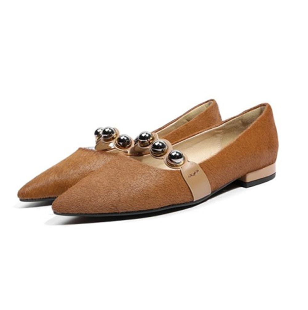 NVXIE Damen Single Schuhe Schlüpfen Beiläufig Komfort Komfort Komfort Spitz Zehe Faulenzer Wohnungen Clever Arbeit 89bac8
