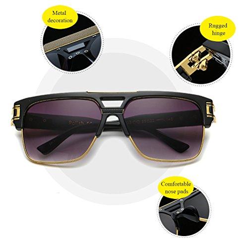 Sans Plein Black Durable Zhhlinyuan Mens Protect Lunettes Monture Nuances Sunglasses Eye éblouissement Classique Unisexe Square Des UV400 Semi Soleil de Womens tPRqFwR