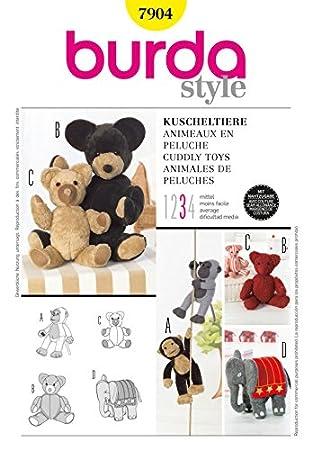 Burda 7904 Schnittmuster Stofftiere, Einheitsgröße: Amazon.de: Küche ...