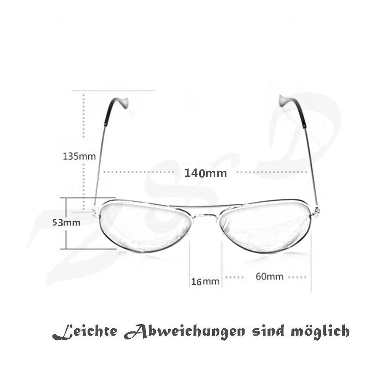 Pilotenbrille Sonnenbrille Fliegerbrille Pornobrille mit ...