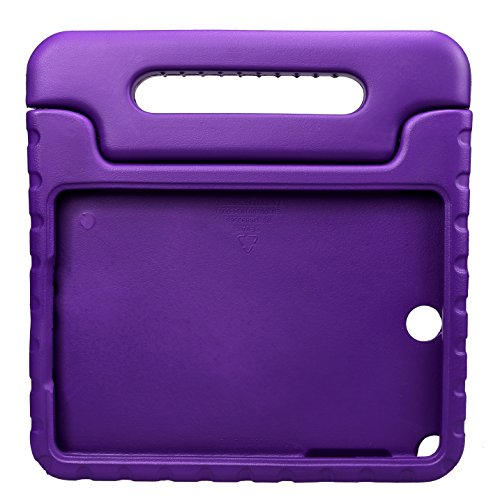 NEWSTYLE Samsung Galaxy Tab A 9.7 Shockproof Case Light Weight Kids Case Super Protection Cover Handle Stand Case for Kids Children For Samsung Galaxy Tab A 9.7-inch SM-T550 SM-P550 - Purple Color