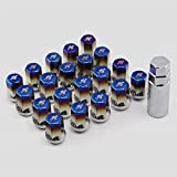 SaiDeng Car Wheel Lug Nuts M12 20Pcs/Set 1.5/1.25 Colorful ITSOK Drive Lug Nuts Stainless Steel Wheel Nuts + Anti-theft Screw