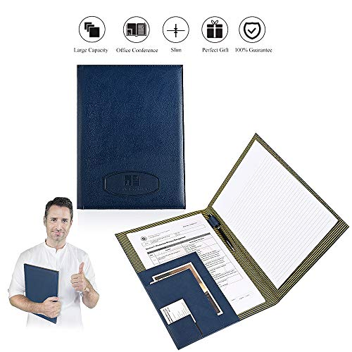 Leather Portfolio Folder Conference Presentation Letter Size Writing Pad Notepad