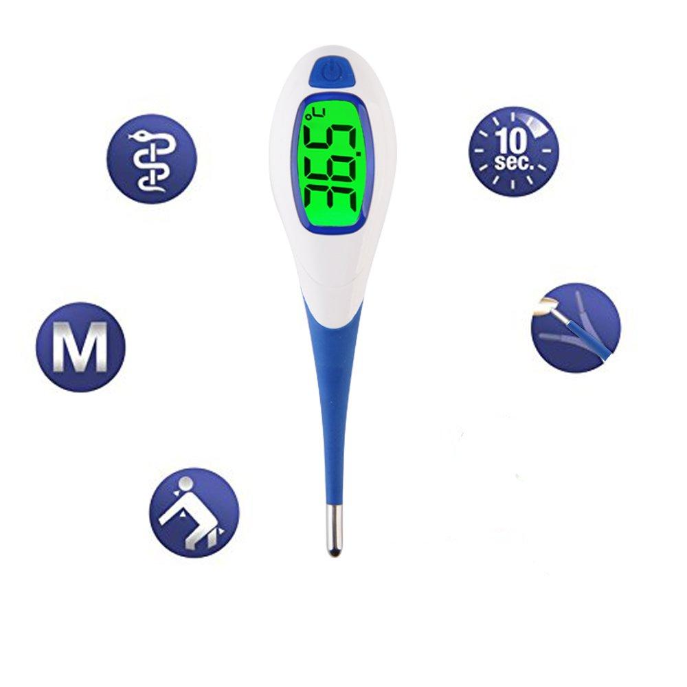 Lunasea - Termómetro digital de precisión 3 en 1 con pantalla LCD retroiluminada para niños y adultos: Amazon.es: Bebé