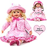 WonderPlay 25 inch Girl's Doll with 3D Blue Eyes Golden Hair for 3+ Kids
