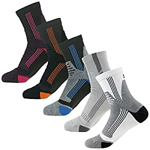 MUSCLE WAY Cushioned Quarter Athletic Running & Cycling Socks for Men and Women