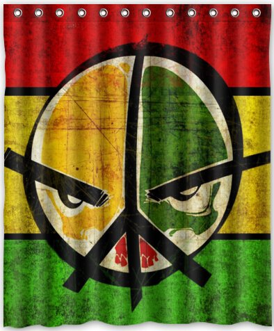 Amazon Funny Design Peace Sign Shower Curtain 60w X 72h Generic Liners Home Kitchen