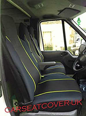 SINGLE HEAVY DUTY BLACK SEAT COVER PROTECTOR FOR VOLKSWAGEN VW CRAFTER 2008