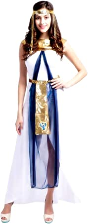 KIRALOVE Disfraz de Cleopatra - Egipcio - Blanco - Disfraces de ...