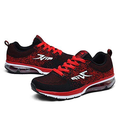 Air da Casual Uomo TORISKY Sneakers Running Ginnastica Corsa Rosso Donna Scarpe Fitness Unisex Sportive zwqTq7E0x