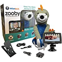 Infanttech Award Winning Zooby 4.3 Video and Audio Baby Monitor (Dinosaur) - The Baby Monitor for Home, Cars and On the Go