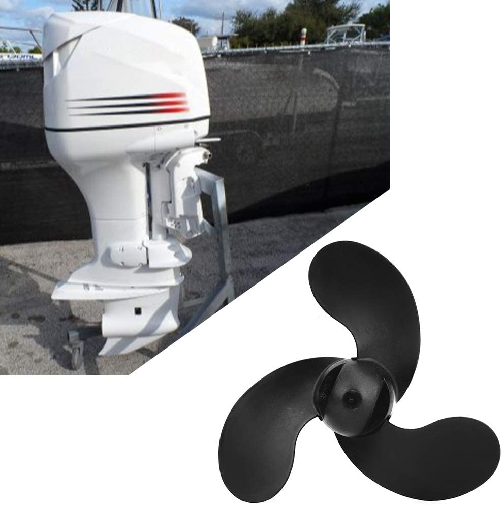 3 Blade Boat Propeller Acouto 7 1//4 x 6 ABS Plastic Propeller Outboard Motor Fit for 2.5HP 3.5HP