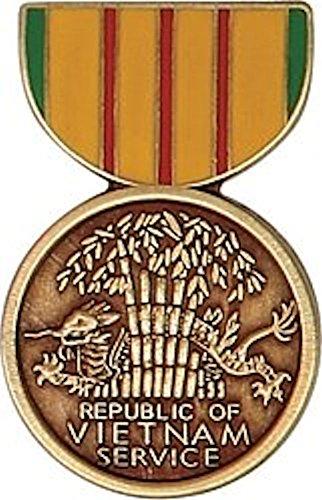 (Vietnam Service Mini Medal Small Pin)