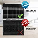 Magnetic Chore Chart for Kids - 4 Chalk Markers