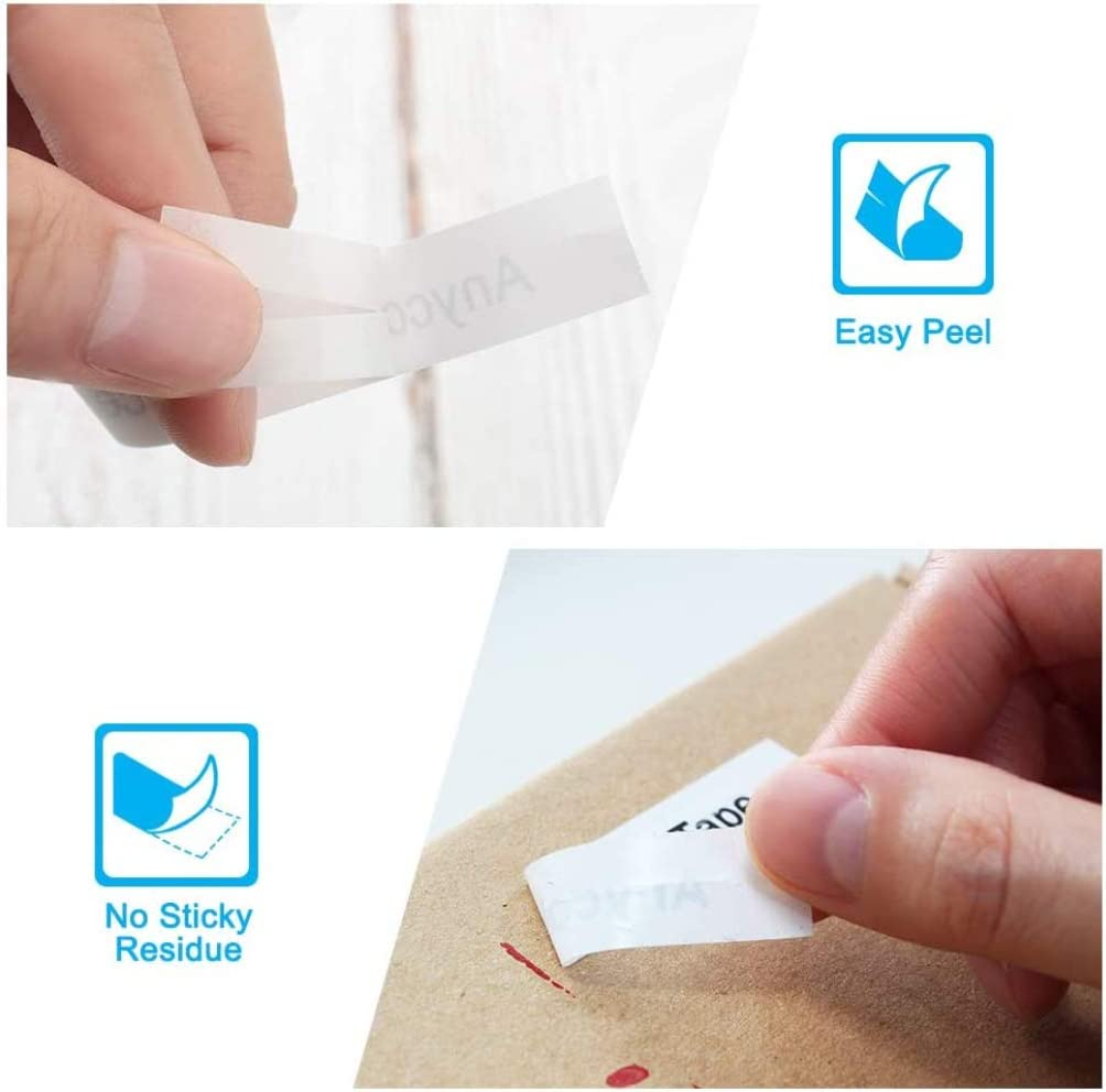 Anycolor Compatible Labels Replacement for DYMO LetraTag Refills White Plastic 12mm x 4m 91331 Plastic Label Maker Tapes for DYMO Label Maker LetraTag LT-100H 100T QX50 Plus LT-100H 6-Pack