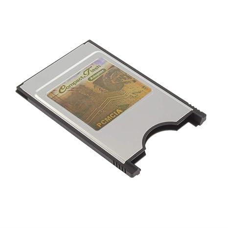 Amazon.com: Adaptador de tarjeta de memoria compacta CF a PC ...