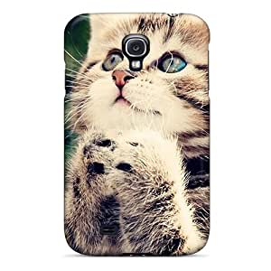 Fashionable Style Case Cover Skin For Galaxy S4- Baby Cat Looking Up