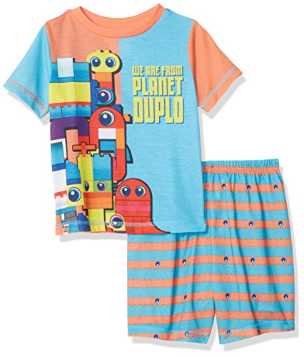 - LEGO Little Movie 2 Boys Pajama, 2 Piece P J Set, Short Sleeve, Blue Orange, 5T