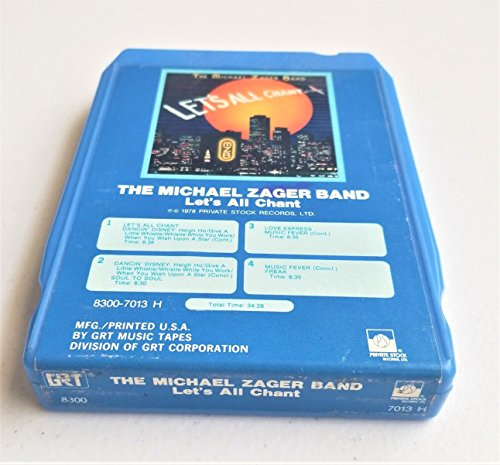 Used, The Michael Zager Band Let's All Chant Vintage 8 Track for sale  Delivered anywhere in USA
