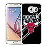 New Custom Design Cover Case For Samsung Galaxy S6 Chicago bull 12 White Phone Case