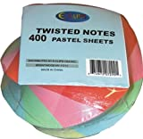Twisted Note Paper - Pastel colors 400 sheets Case Pack 48