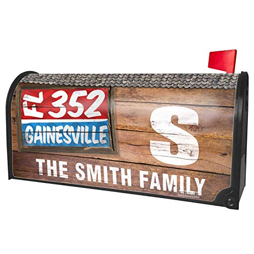 NEONBLOND Custom Mailbox Cover 352 Gainesville, FL red/Blue -